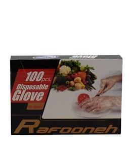 دستکش یکبار مصرف رافونه 100 عددی