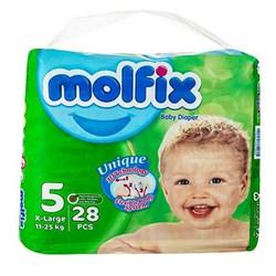 پوشک بچه دوبل مولفیکس سایز 5 بسته 28 عددی