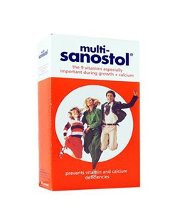 شربت مولتی ویتامین حاوی کلسیم مولتی سانستول 200 میلی لیتری