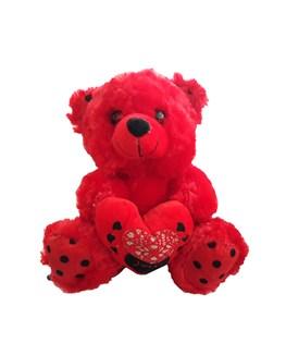 عروسک طرح خرس قلب به دست ارتفاع 23 سانتی متری