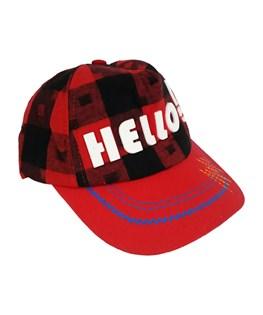 کلاه کپ پسرانه مدل HELLO کد 025