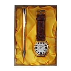 ست هدیه ساعت و خودکار مردانه کد 02