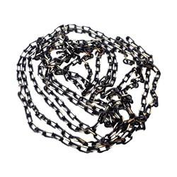 زنجیر برنجی رنگ مشکی طلایی 1 متری