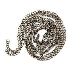 زنجیر استیل رنگ ثابت نقره ای سایز 6