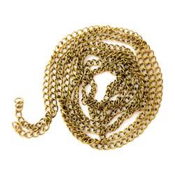زنجیر استیل رنگ ثابت طلایی سایز 6