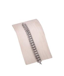 دستبند نقره زنانه مدل تراش کد 008