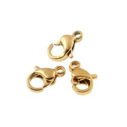 قفل استیل رنگ ثابت طلایی سایز کوچک کد 008